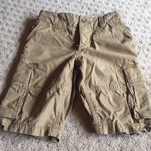 Boys gap khaki cargo shorts